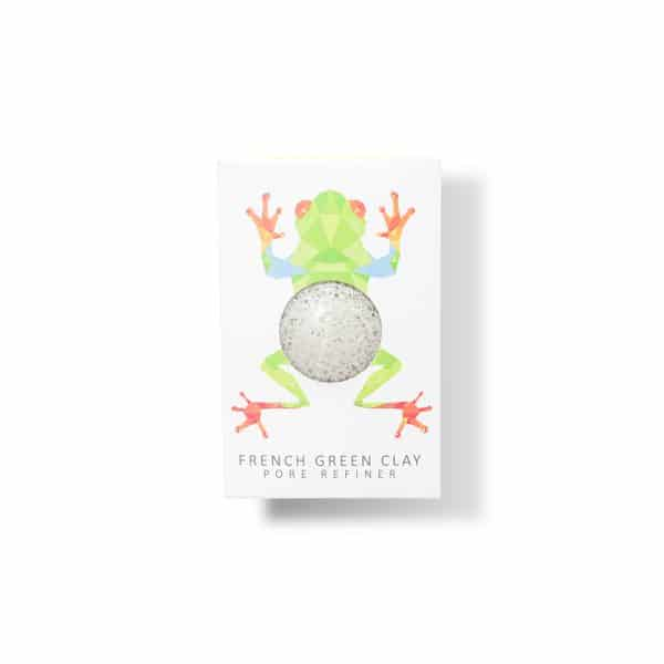 Esponjas Piel sensible The Konjac Sponge Rainforest Frog Mini Face Konjac Sponge French Green Clay