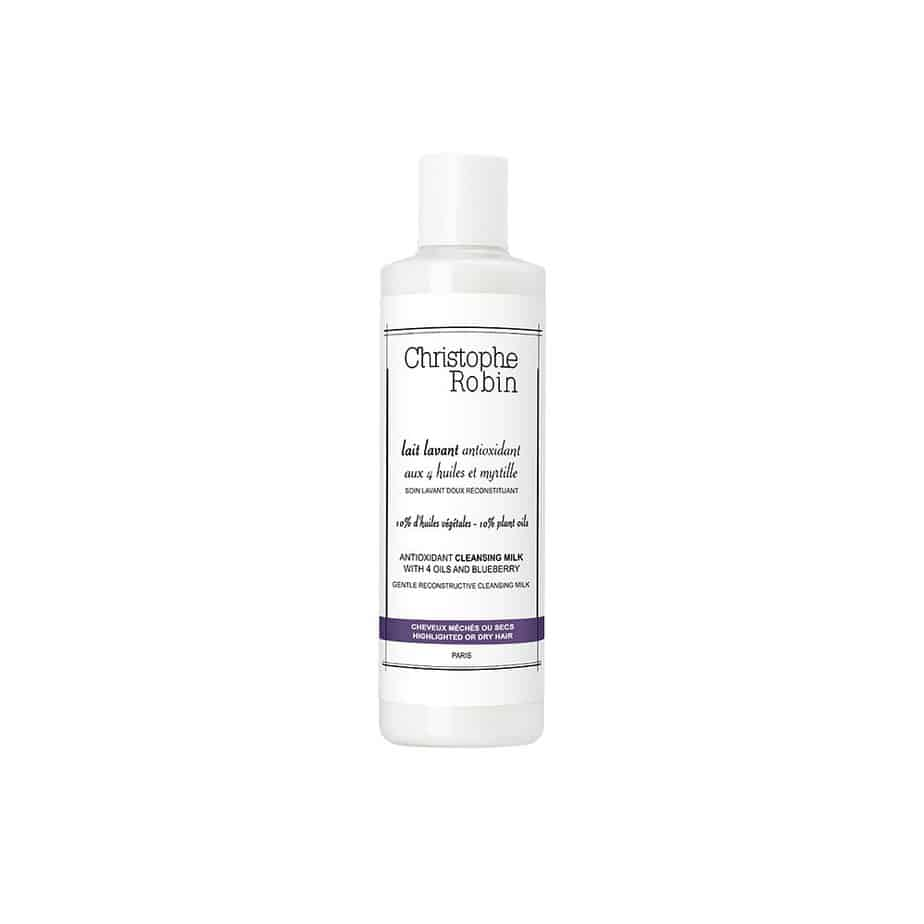 Leche limpiadora cabello teñido Christophe Robin Antioxidant Cleansing Milk with 4 Oils and Blueberry