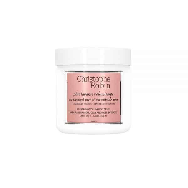 Cleansing volumizing paste with pure rassoul clay and rose extracts Christophe robin cabello fino