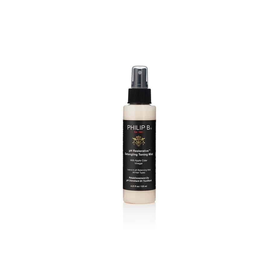 Bruma sin aclarado cabello fino Philip B pH Restorative Detangling Toning Mist