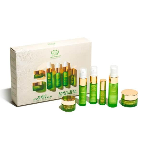 set de seis productos esenciales de la marca tata harper
